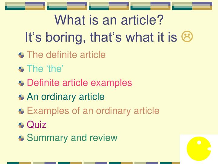 What is an article it s boring that s what it is