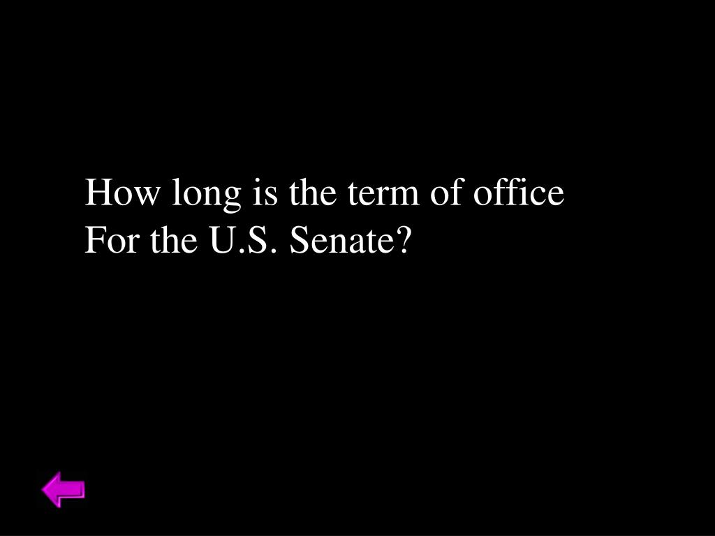 How long is the term of office
