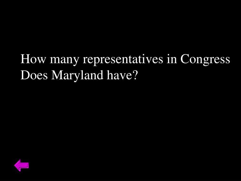 How many representatives in Congress