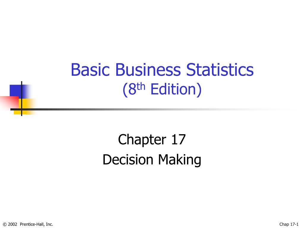 basic business statistics 8 th edition