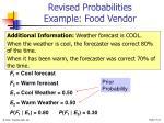 revised probabilities example food vendor