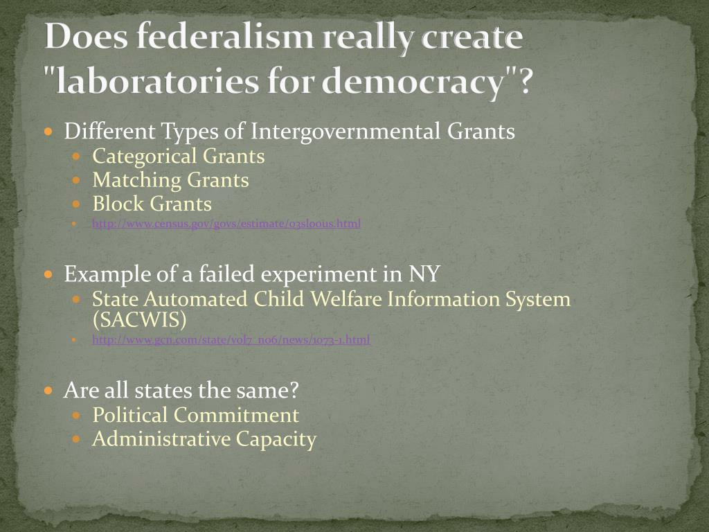 "Does federalism really create ""laboratories for democracy""?"