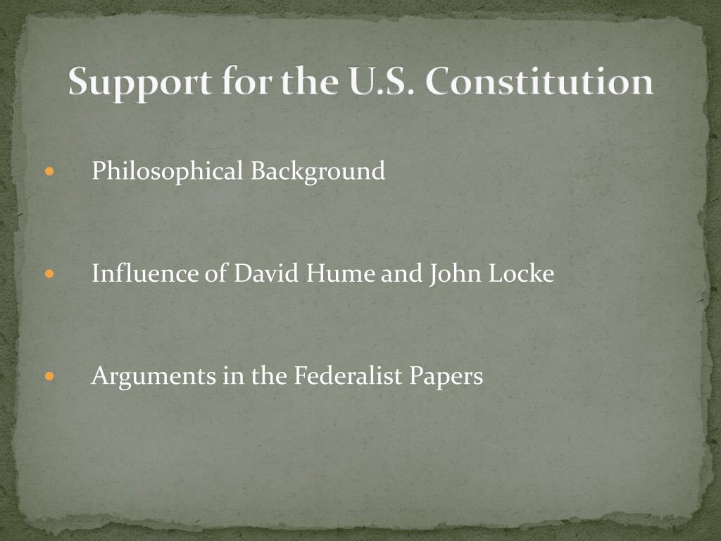 Support for the U.S. Constitution