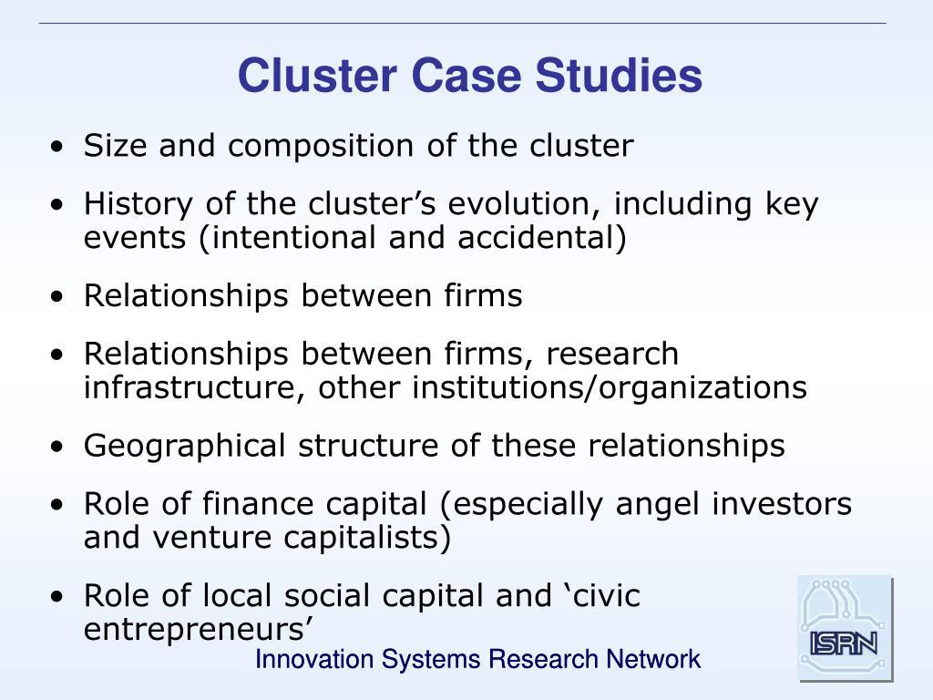 Cluster Case Studies