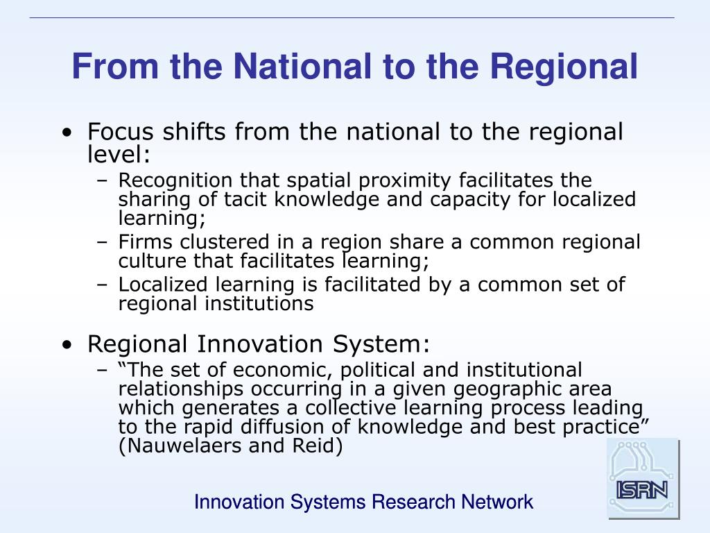 From the National to the Regional