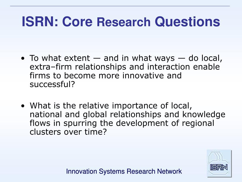 ISRN: Core