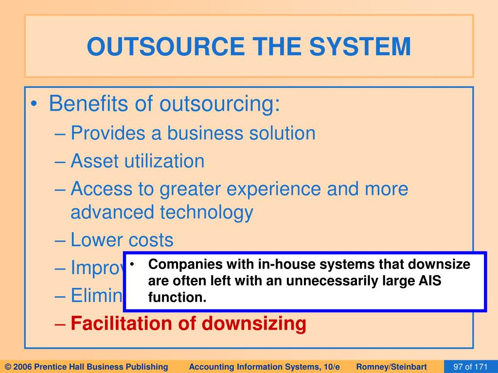 OUTSOURCE THE SYSTEM