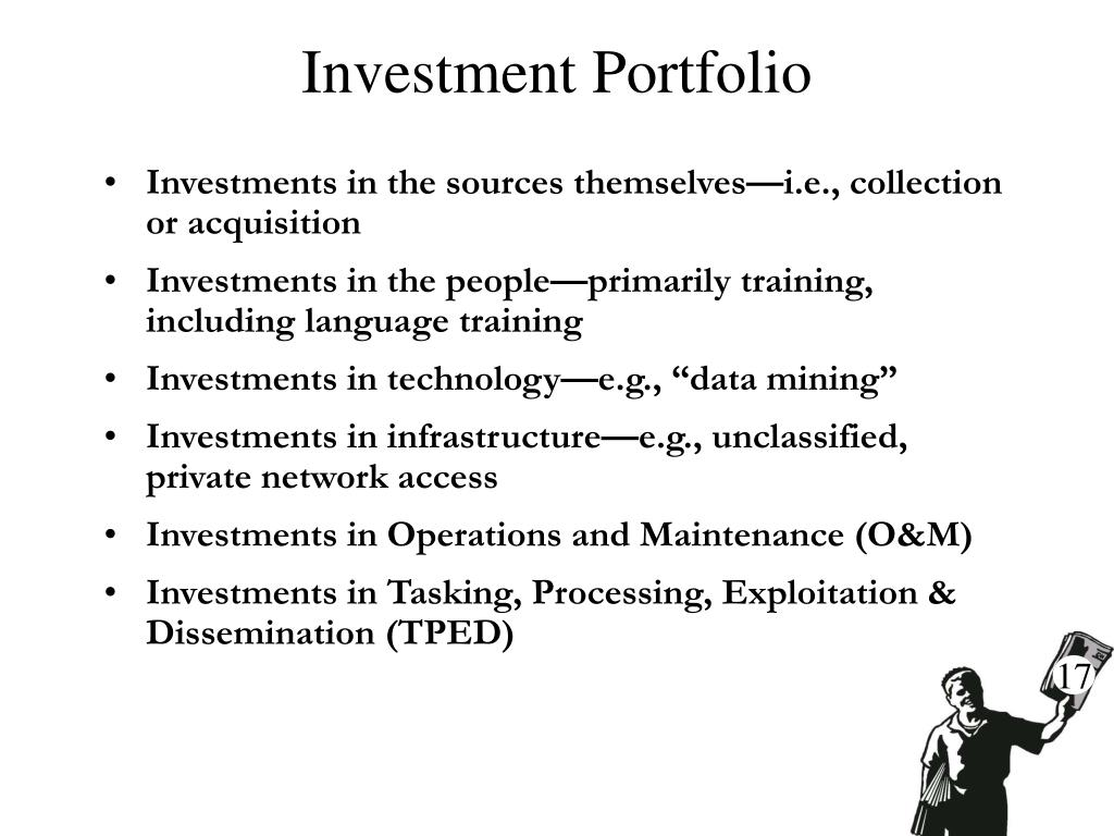 Investments in the sources themselves—i.e., collection or acquisition