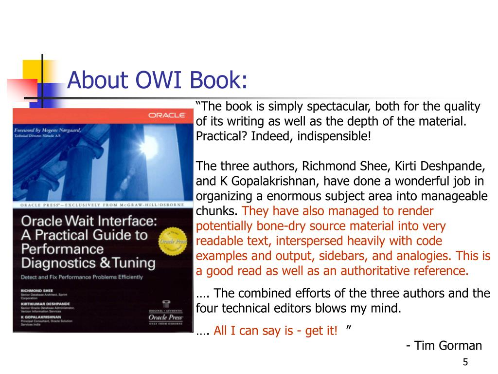 About OWI Book: