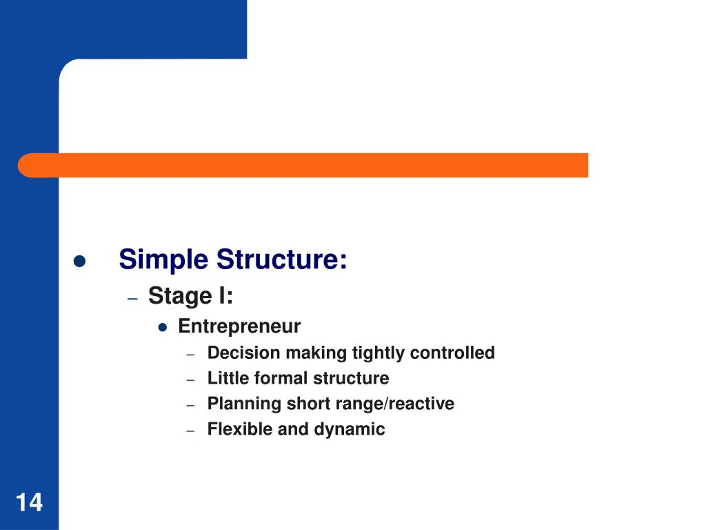 Simple Structure: