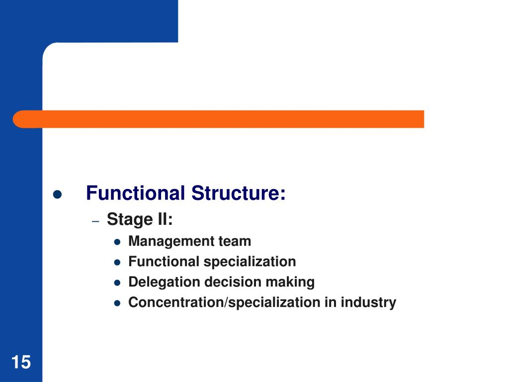 Functional Structure: