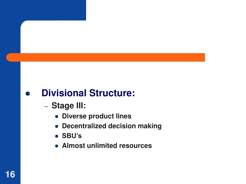 Divisional Structure:
