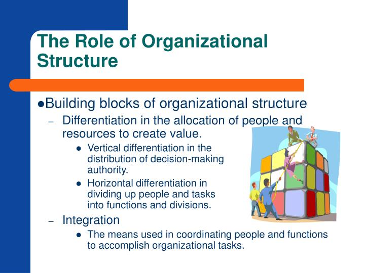 The role of organizational structure