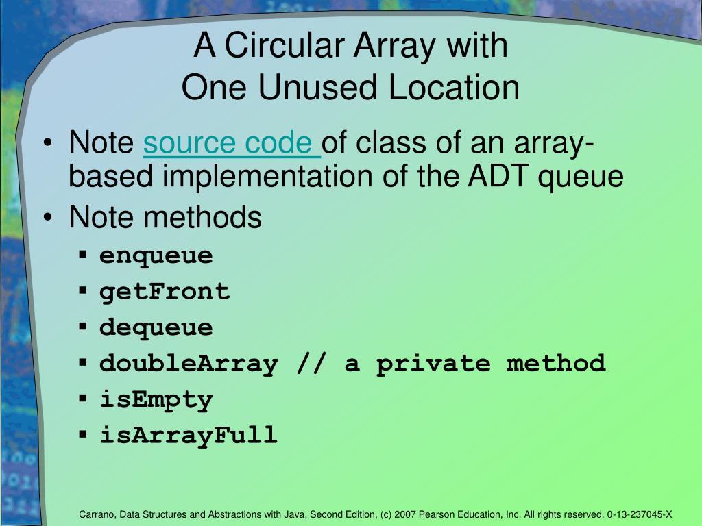 A Circular Array with