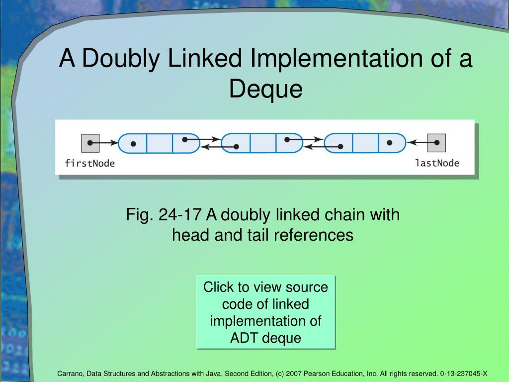 A Doubly Linked Implementation of a Deque