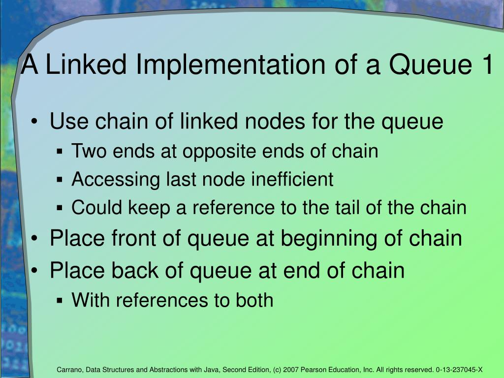 A Linked Implementation of a Queue 1