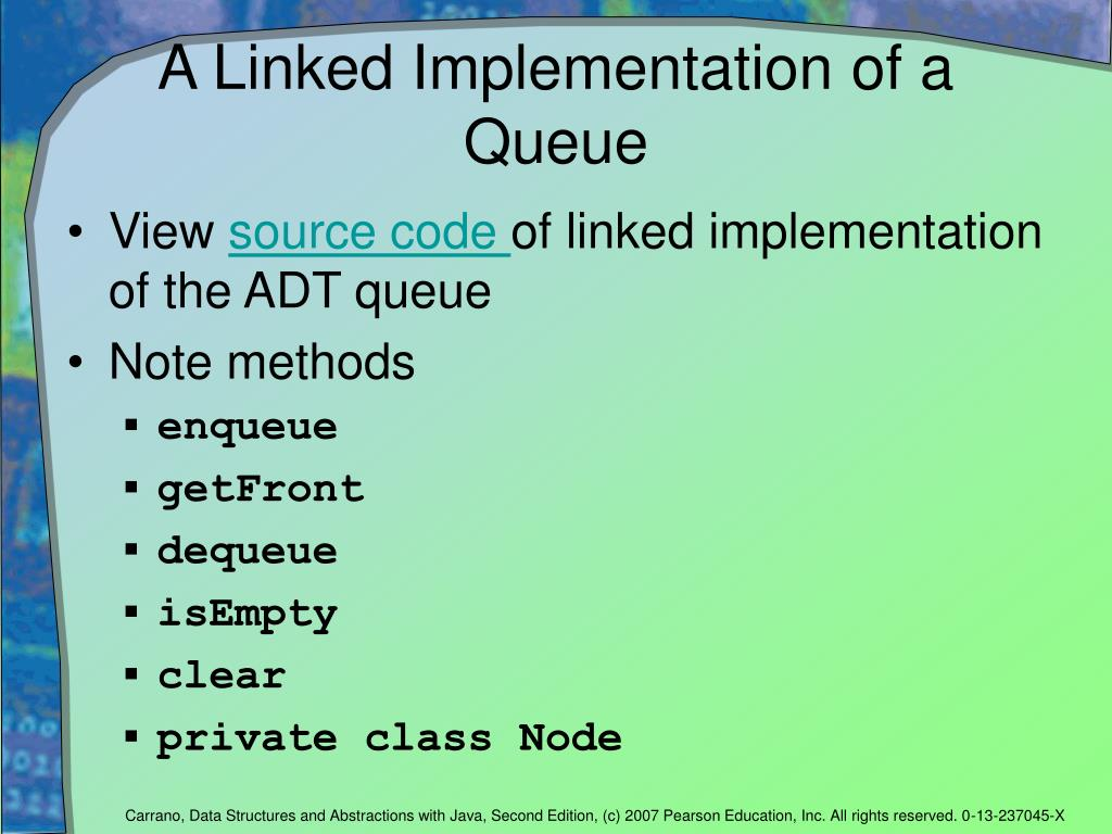 A Linked Implementation of a Queue