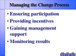 managing the change process