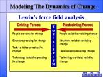 modeling the dynamics of change8