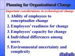 planning for organizational change5