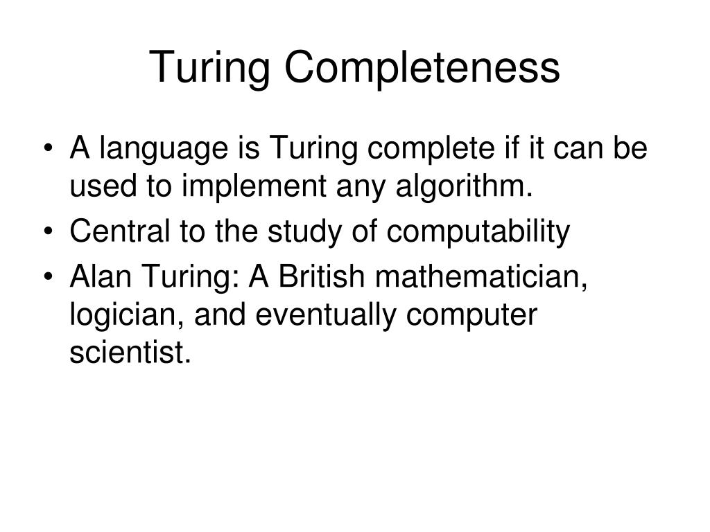 Turing Completeness