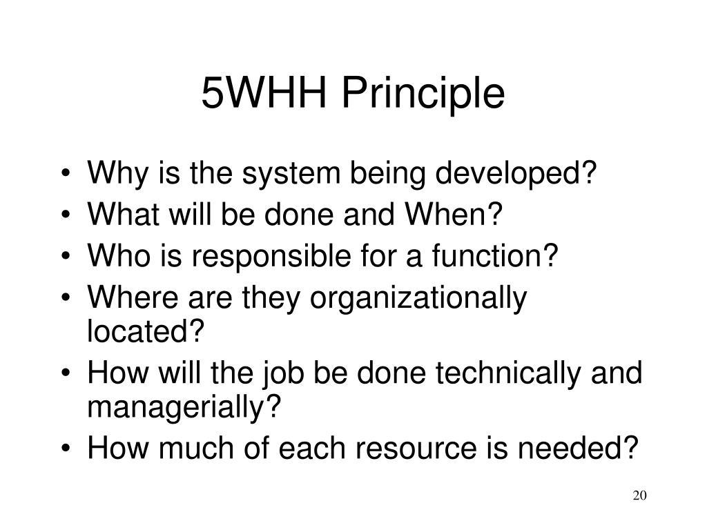 5WHH Principle