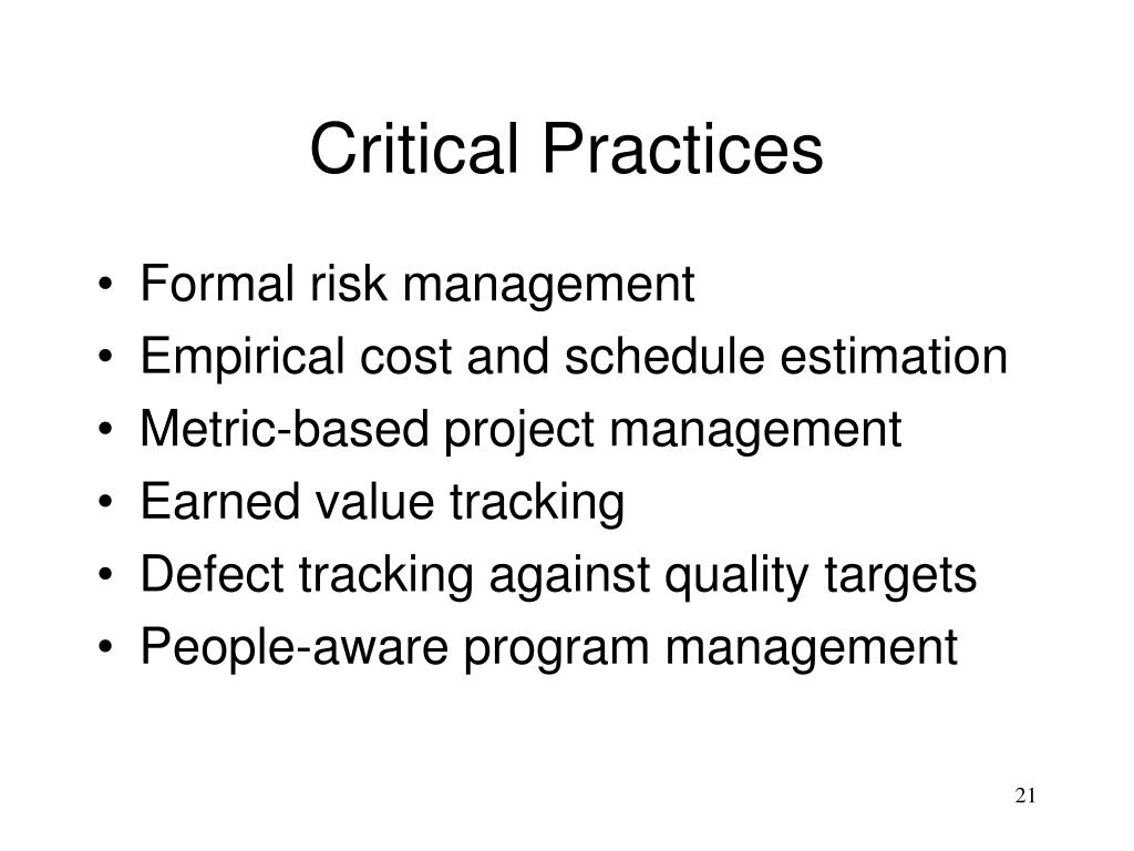 Critical Practices