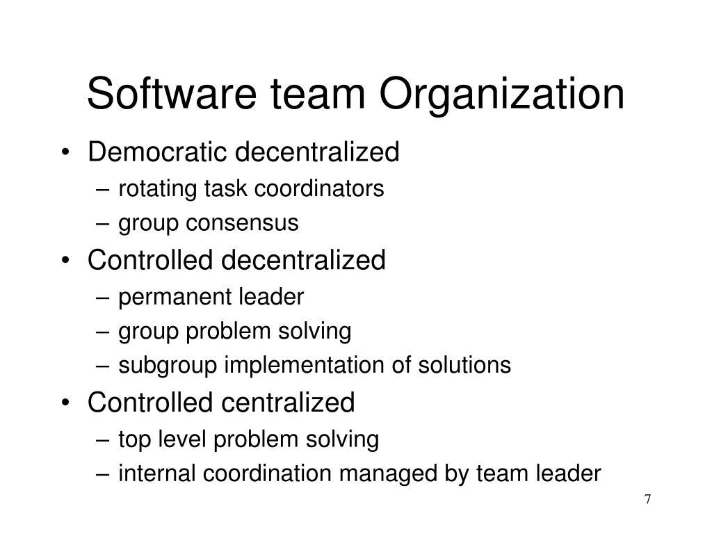 Software team Organization