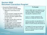 section 409a document correction program25