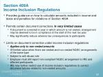 section 409a income inclusion regulations