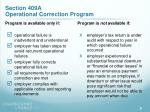section 409a operational correction program9