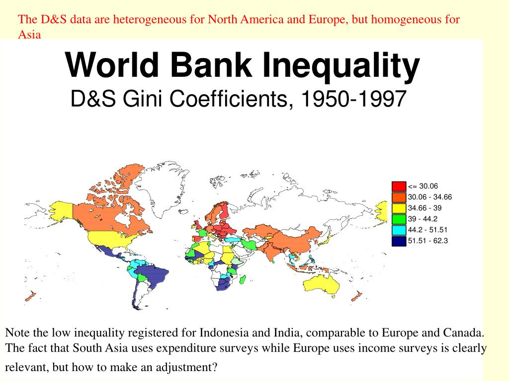 The D&S data are heterogeneous for North America and Europe, but homogeneous for Asia