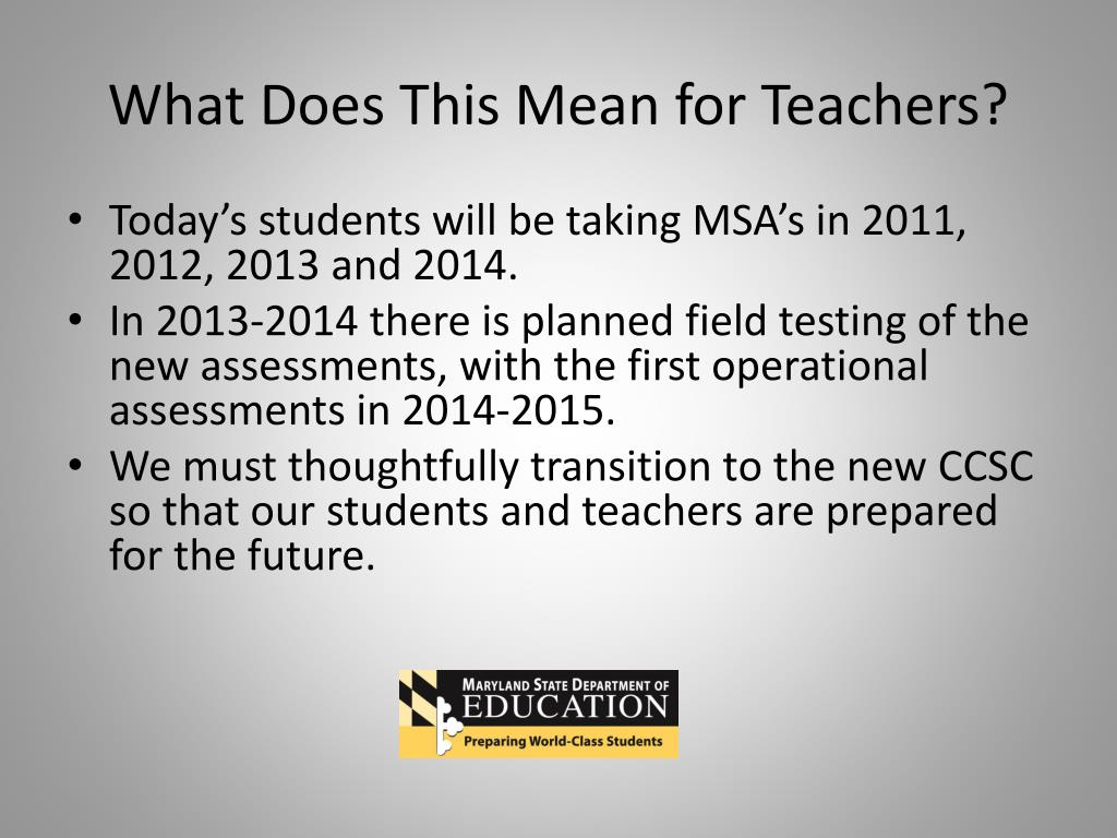 What Does This Mean for Teachers?