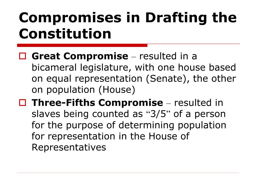 Compromises in Drafting the Constitution
