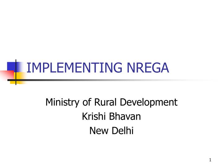 implementing mgnrega for changing the lives Interactions with implementing support staff in the districts and blocks not only note shortage of dedicated personnel, poor training facilities and lack of community participation.