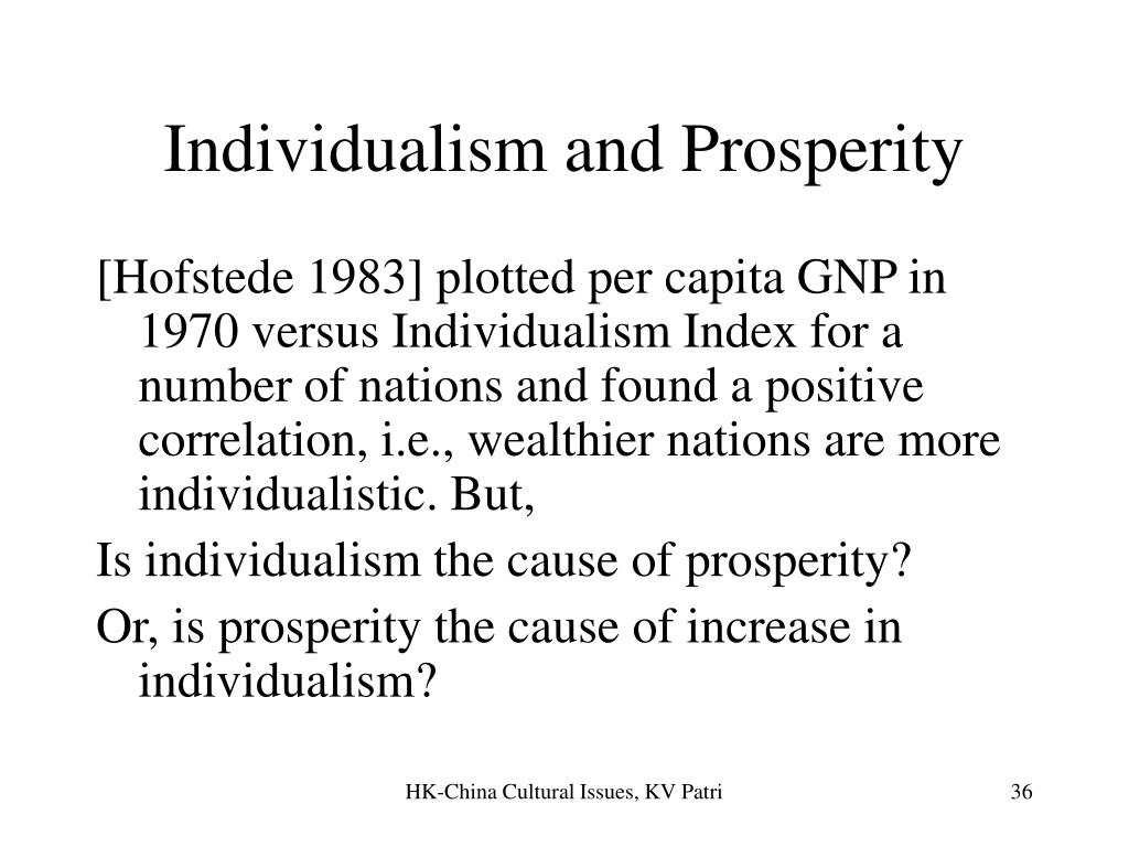 Individualism and Prosperity