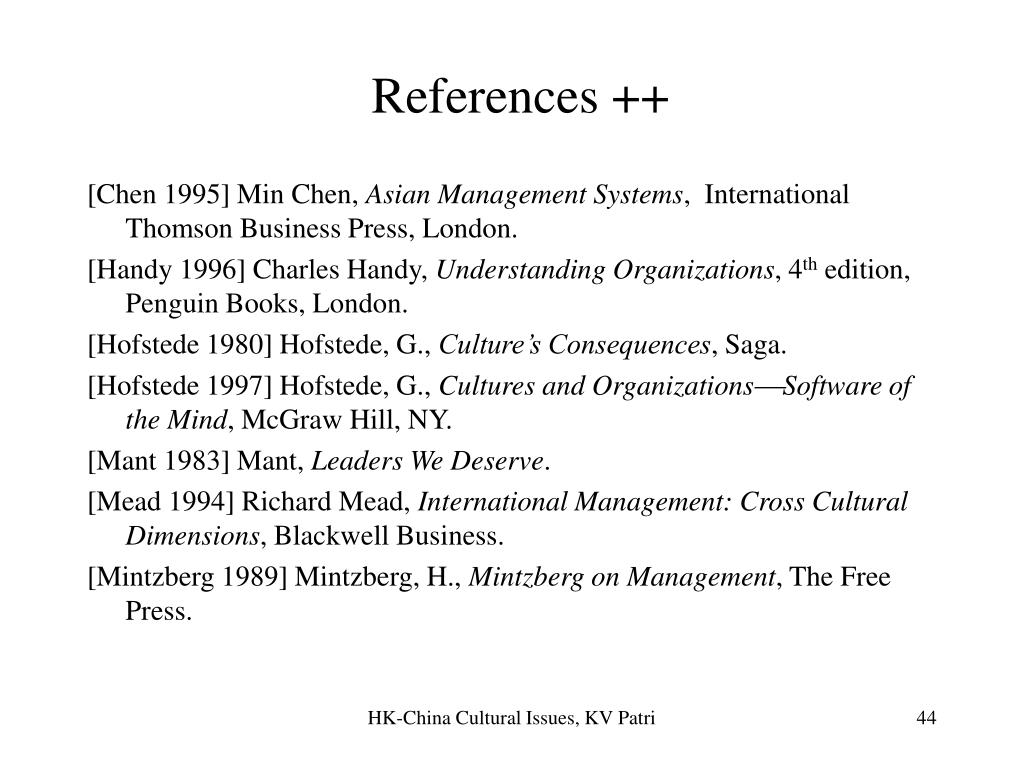 References ++