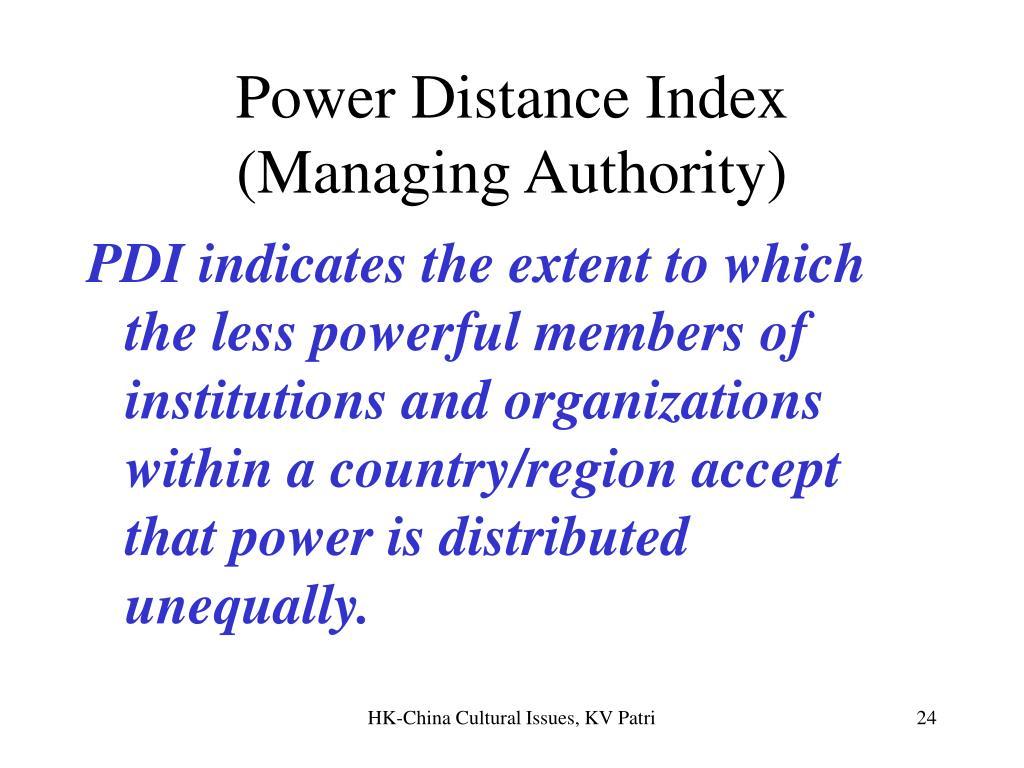 Power Distance Index