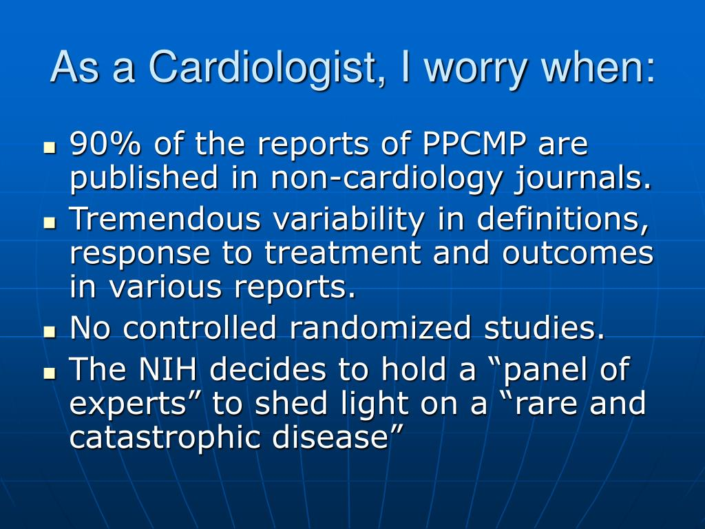 As a Cardiologist, I worry when: