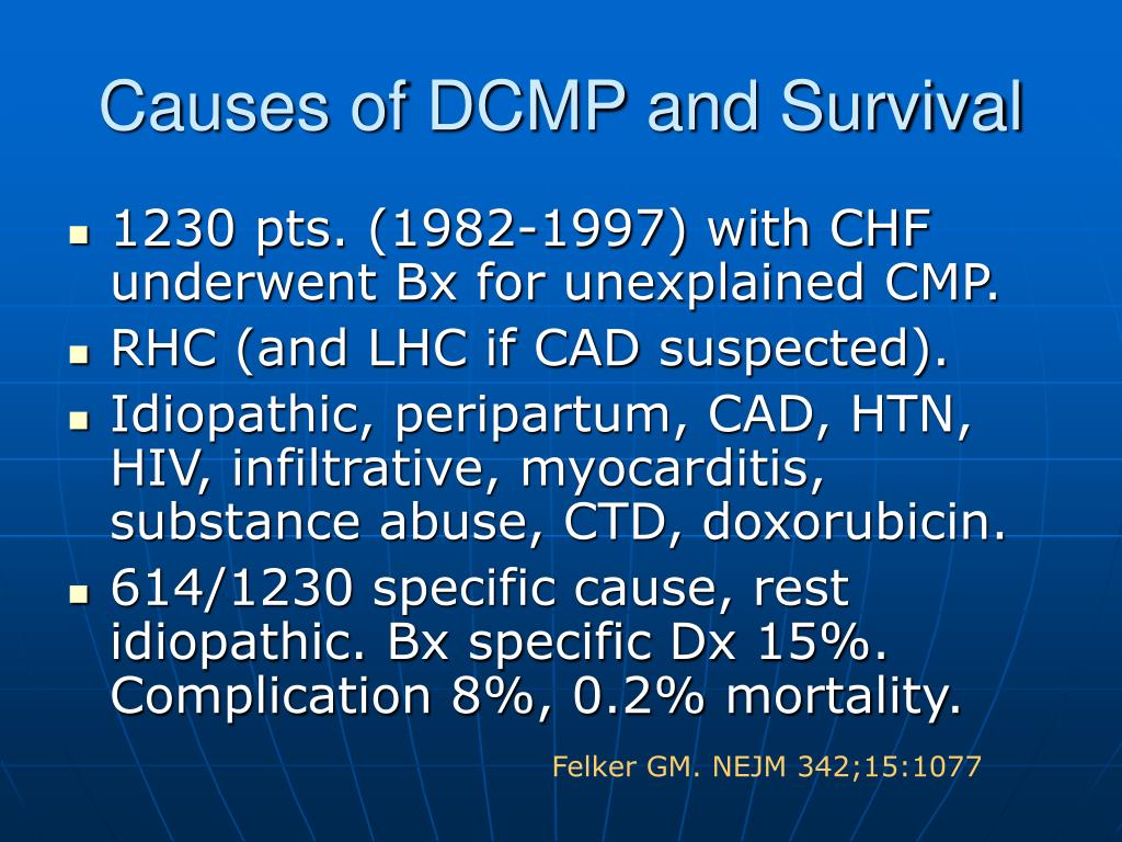 Causes of DCMP and Survival