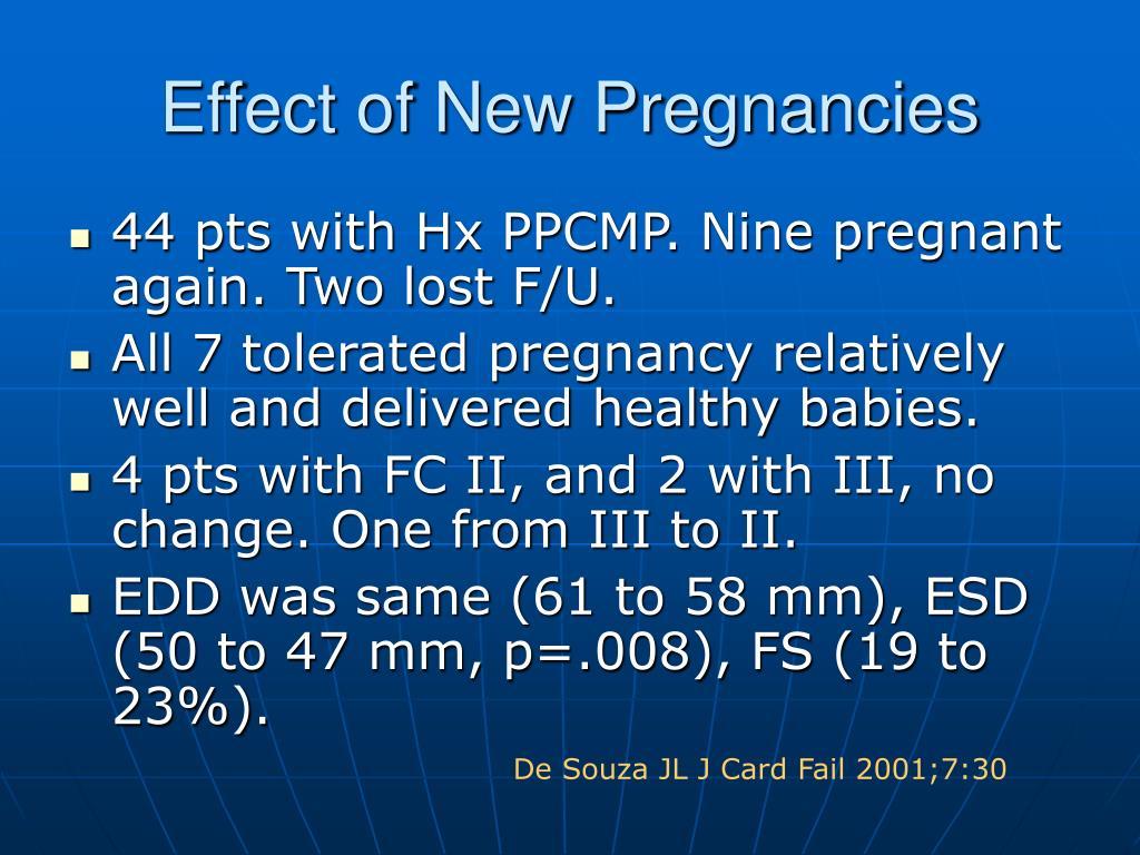 Effect of New Pregnancies