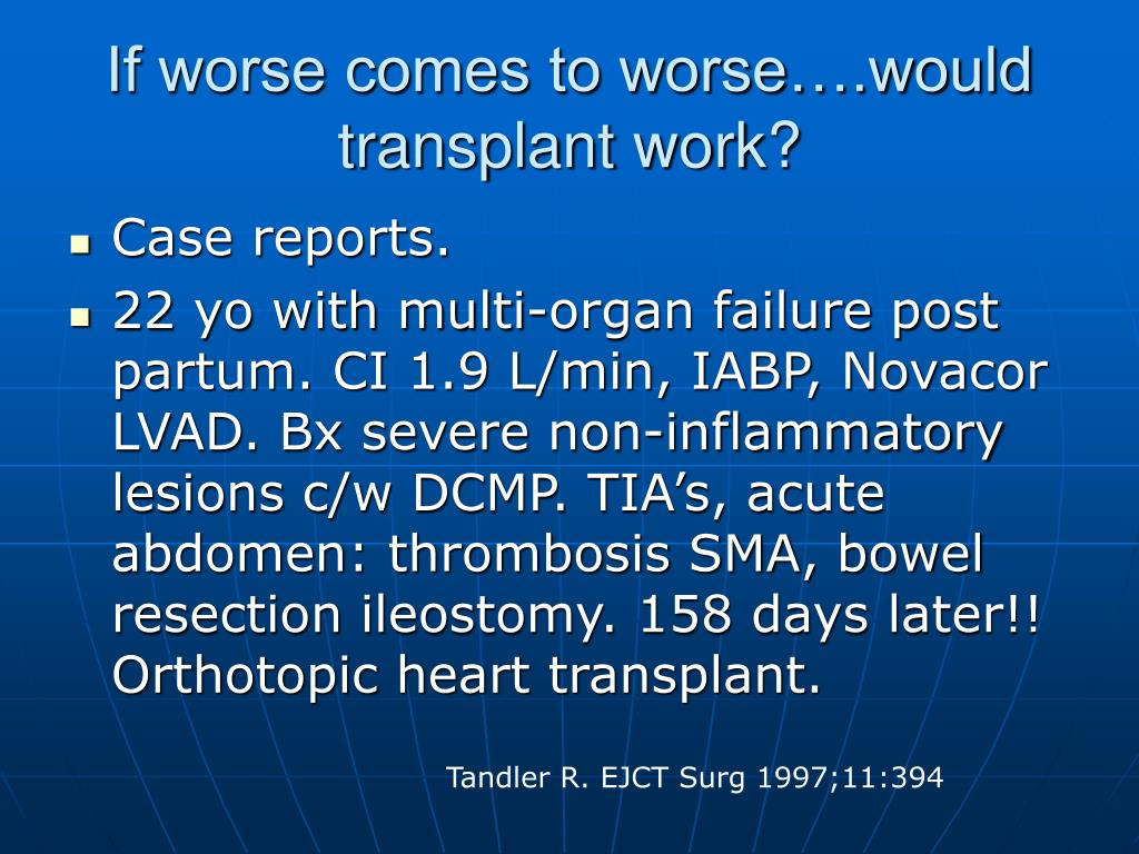 If worse comes to worse….would transplant work?