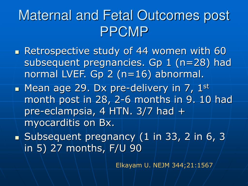 Maternal and Fetal Outcomes post PPCMP