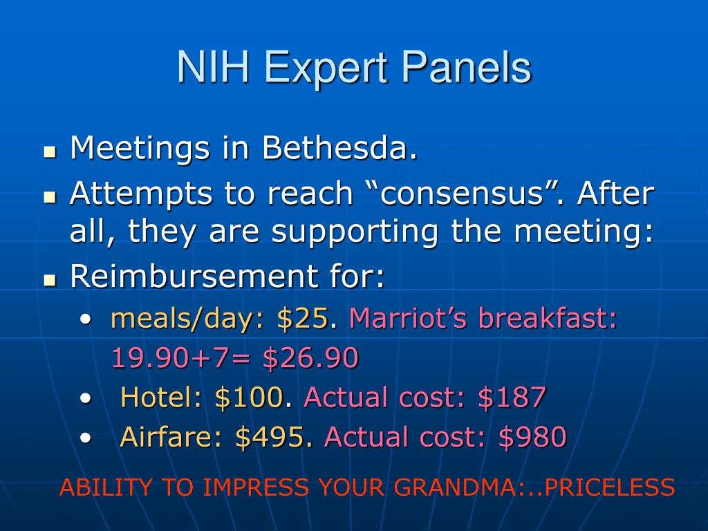 NIH Expert Panels