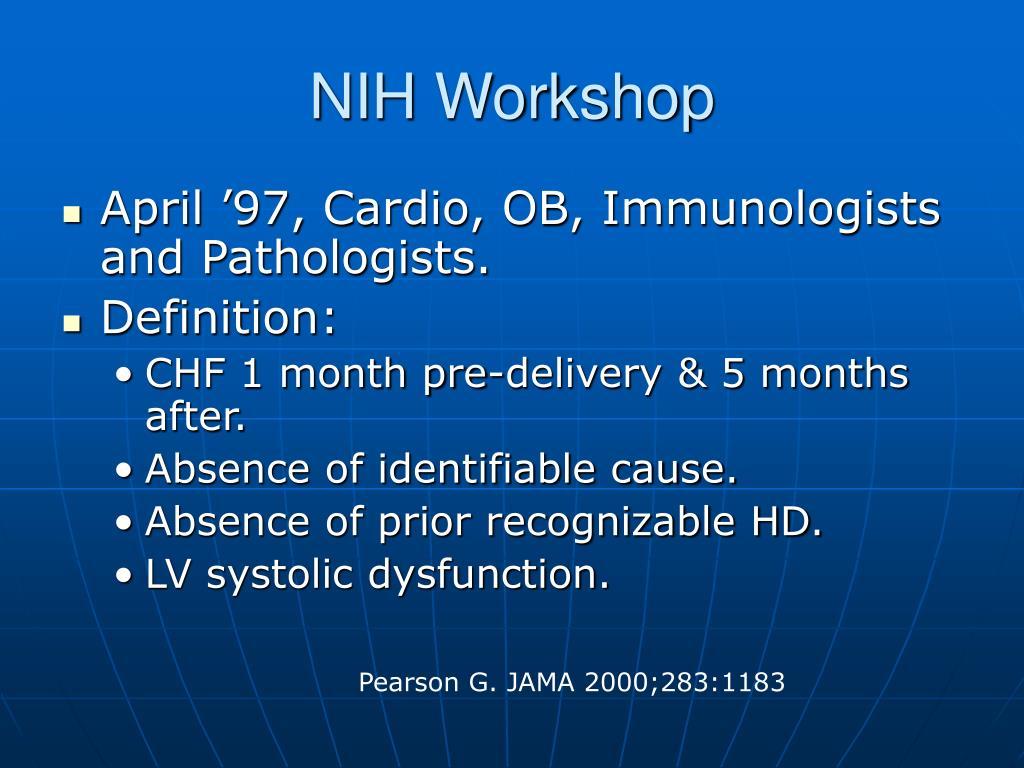 NIH Workshop