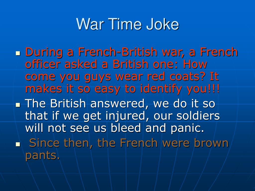 War Time Joke