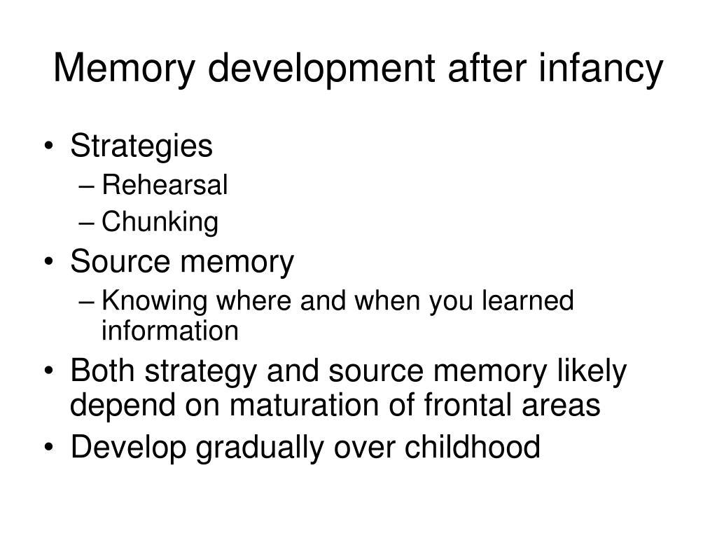 Memory development after infancy