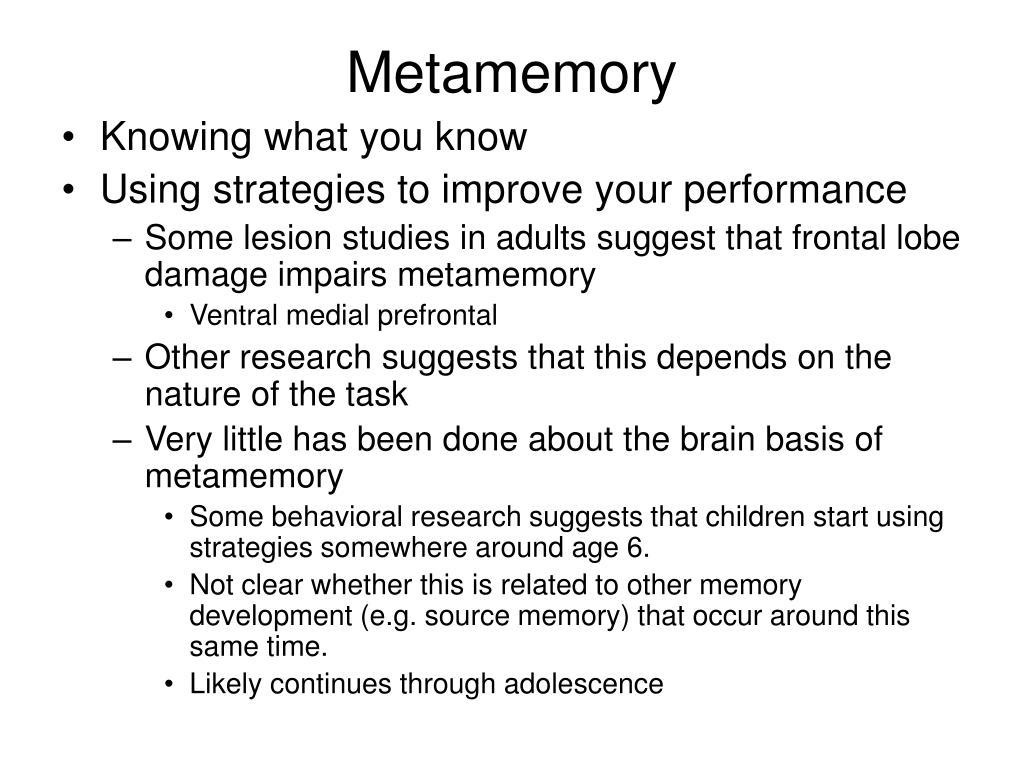 Metamemory