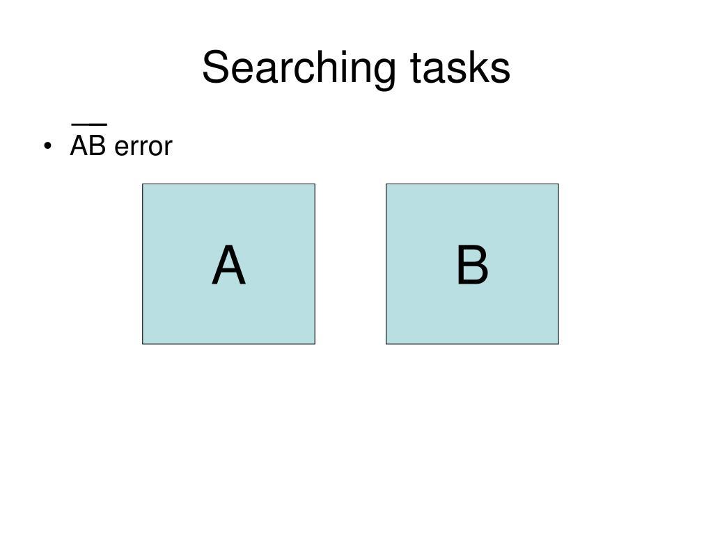 Searching tasks