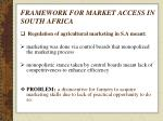 framework for market access in south africa